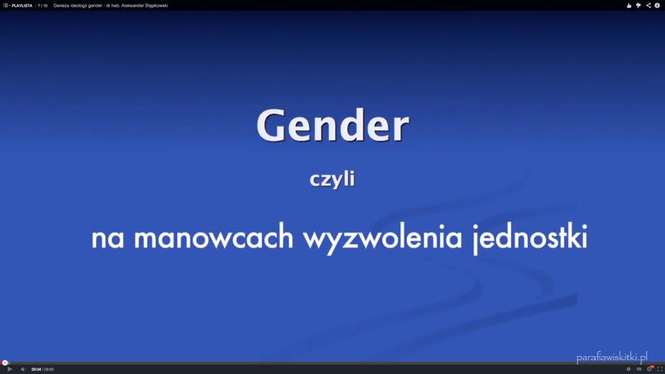Geneza ideologii gender – dr hab. Aleksander Stępkowski